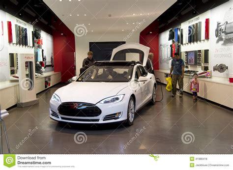 Tesla Bellevue Tesla Electric Car Showroom Editorial Stock Photo Image