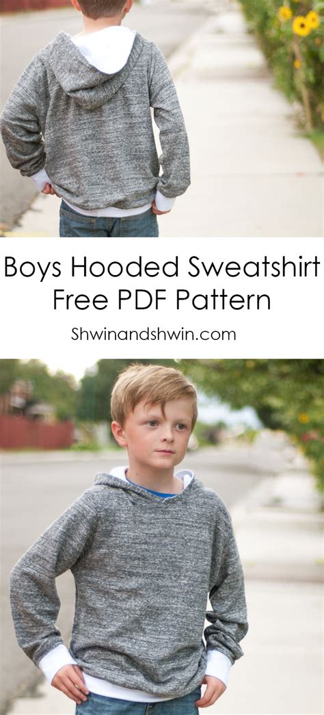 sweatshirt pattern free boys hooded sweatshirt free pdf pattern shwin shwin