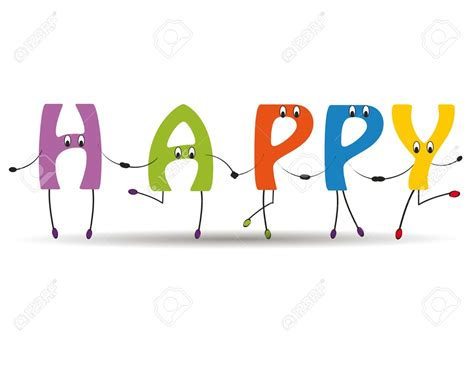 5 Letter Words Happy word happy clipart 59