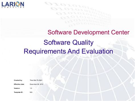 software design quality guidelines software quality requirements and evaluation