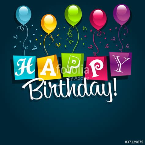 Comp Search Quot Happy Birthday Balloons Quot Stock Image And Royalty Free Vector Files On Fotolia