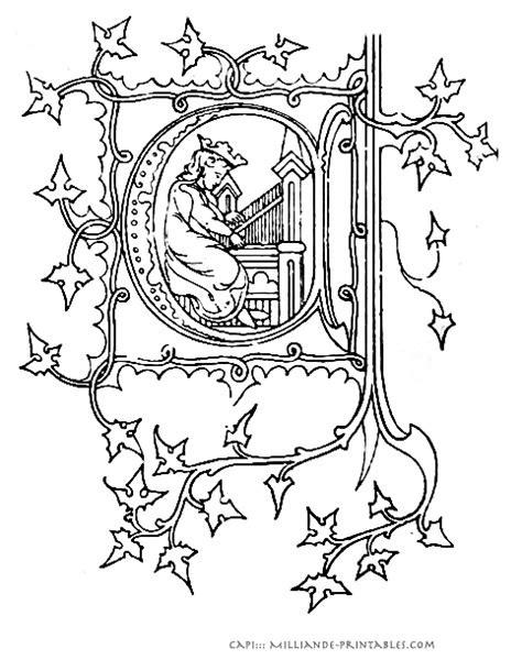 free coloring pages of illuminated i