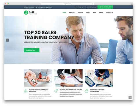 20 Best Business Consulting Wordpress Themes 2018 Colorlib Best B2b Website Templates