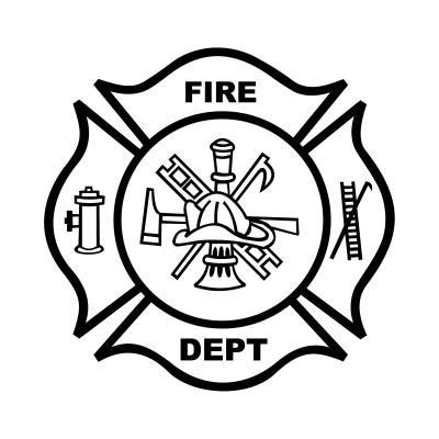 fire department badge coloring page fire safty