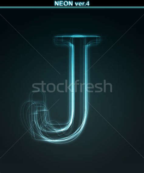 how is the letter j glowing neon font shiny letter j stock photo 169 liubomyr 1291