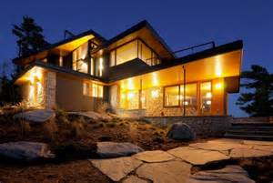 front view of cozy house with beautiful views in