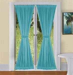 Eggplant Duvet Cover Solid Turquoise Colored French Door Curtain Available In