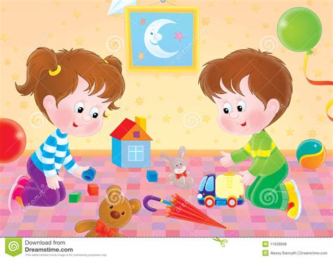 dibujos niños jugando con juguetes jugar a ni 241 os stock de ilustraci 243 n ilustraci 243 n de juego