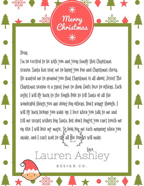 printable personalized elf on the shelf letter personalized elf on the shelf arrival letter printable