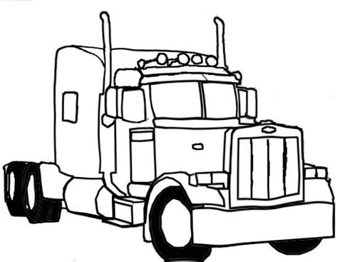 peterbilt semi truck coloring pages sketch coloring page pix for gt semi truck drawings in pencil clipart best