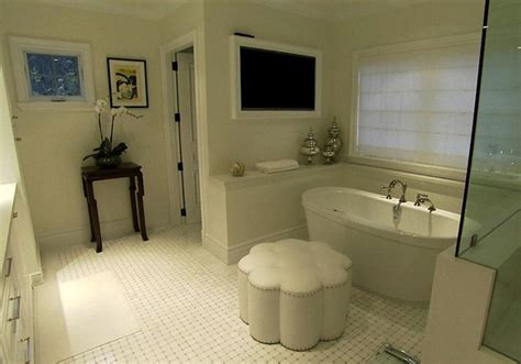 tv in a bathroom flatscreen tv nook design ideas