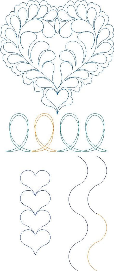 Continuous Line Quilting by Continuous Line Quilting Patterns