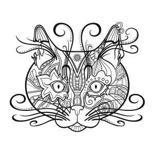 imagenes abstractas para dibujar cabeza de gato 6 dibujos abstractos para colorear y