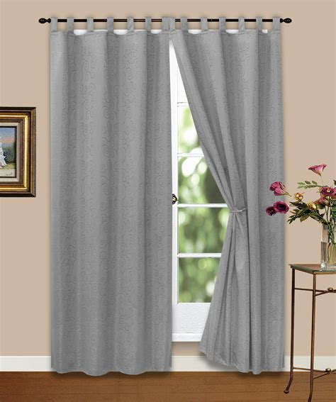 vorhang gardine blickdicht ornamente grau 140x245 cm ebay - Gardinen Grau Blickdicht