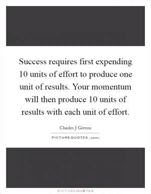 Success J Pincot Momentum success requires expending ten units of effort to produce picture quotes