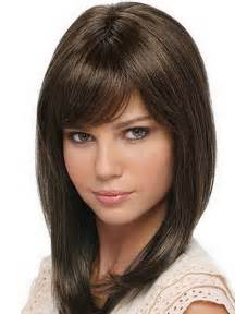 layered hairstyles with bangs for americans that hairs thinning out layered haircuts for medium length hair with bangs