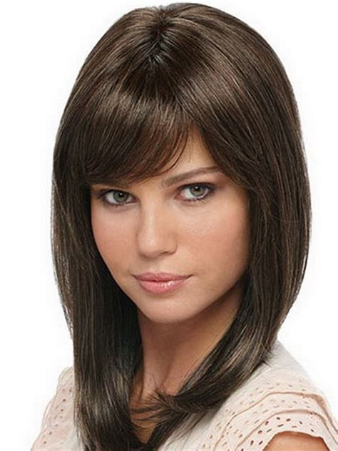 Hairstyles For Medium Layered Hair With Side Bangs by Layered Haircuts For Medium Length Hair With Bangs