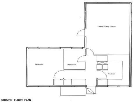 open plan bungalow floor plans open floor plans 1 bedroom 1 bedroom bungalow floor plans