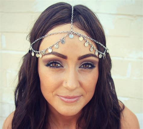stunning amazing chain headpiece jewelry weddings
