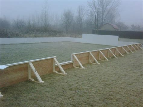 backyard skating rink construction backyard ice rinks build a home ice rink and bring on the