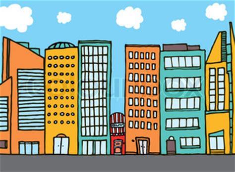 Huge cartoon city skyline   Vector   Colourbox