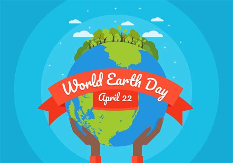 earth day background illustration download free vector