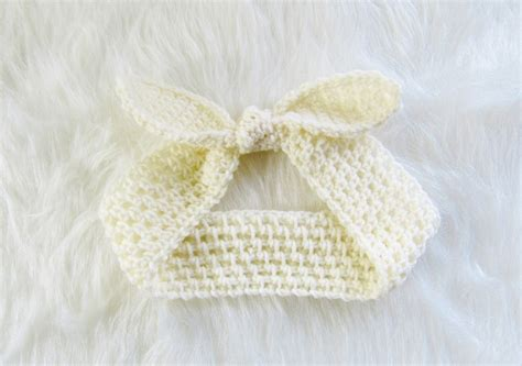 pattern baby headbands crochet dreamz knot me up headband free crochet pattern