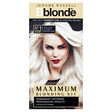 best store hair for maximum lightening jerome russell bblonde full range kit toner ombr 233