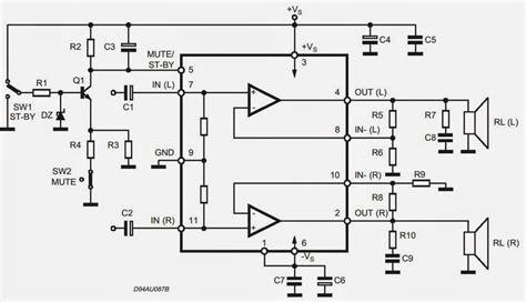 tda7265 lifier circuit diagram audio lifier circuits