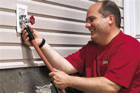 Install Outside Faucet by How To Install A Freezeproof Faucet This House
