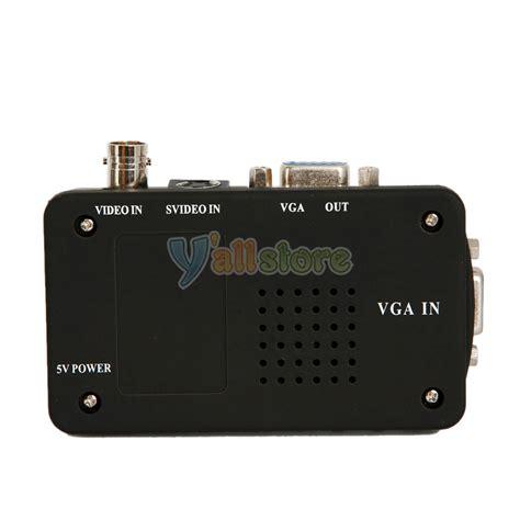Lcd Tv Box Advance dc5v composite s bnc tv to pc vga crt lcd converter