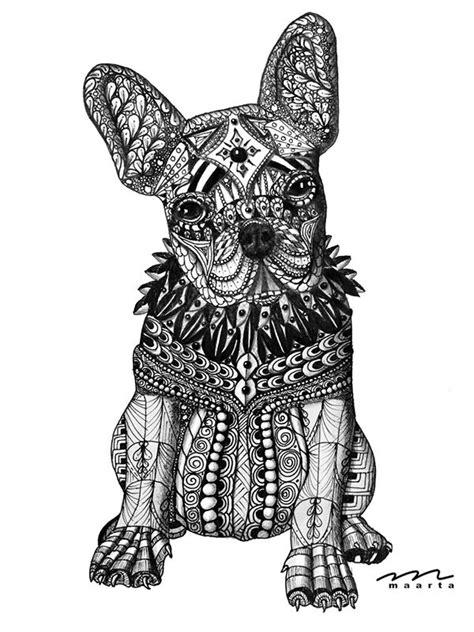 Bild Franz 246 Sische Bulldogge Tusche Bleistiftzeichnung