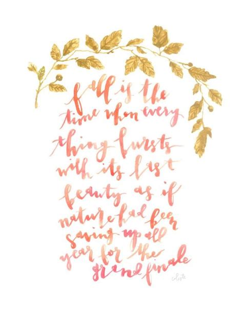 fall autumn watercolor quote poster painting watercolor quote quote posters and watercolors