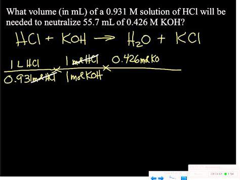 acid base titration problem  youtube