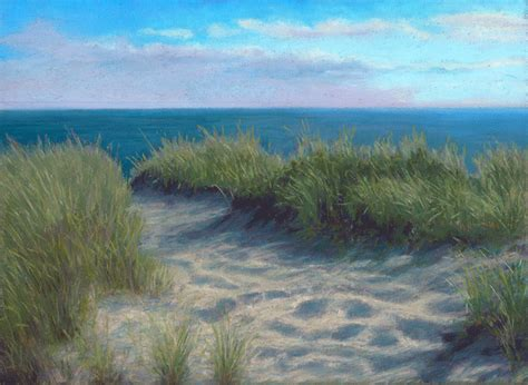 pastel painters of cape cod pastel painting path to race point on the tip of cape cod