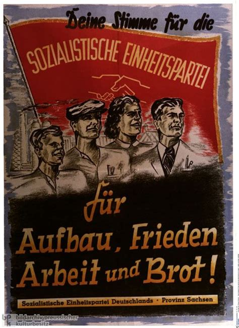 stasi state or socialist 0955822866 this image shows a typical communist propaganda in east part of germany in 1946 from the