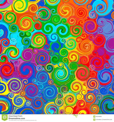 swirl pattern artists rainbow swirl background vector cartoon vector