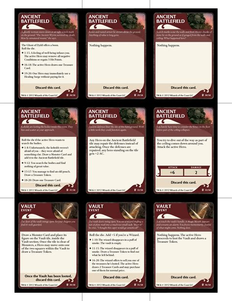 item card template d d files boardgamegeek