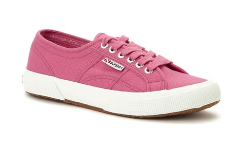 pink tennis shoes superga unisex 2750 cotu classic pink canvas trainers