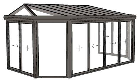plan veranda 3d gratuit veranda emeraude mod 232 le 224 2 pans coup 233 s et toiture 224 facette
