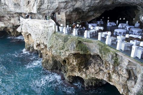 the cliff restaurant italy the cave restaurant grotta palazzese 36 km from bari in