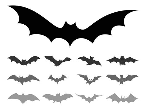 Bat Outline Vector by Bat Silhouettes Vector Graphics Freevector