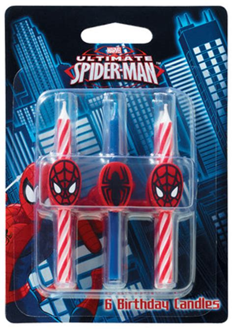 themed birthday candles spider man themed birthday candles