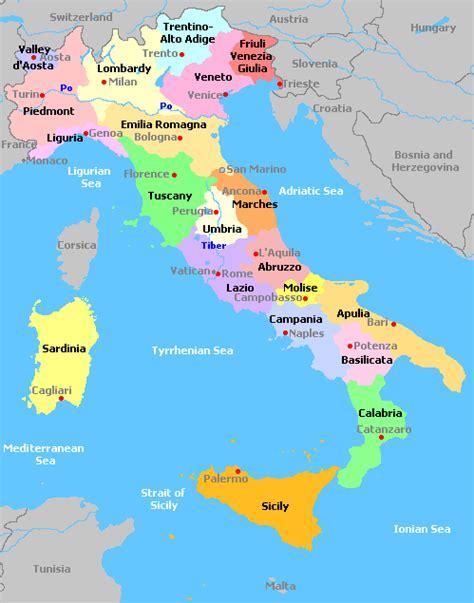 Search Italy Italien Regionen Karte