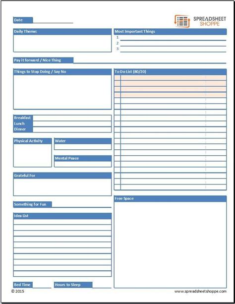 daily planner template may 2015 free daily planner template spreadsheetshoppe