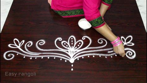 side designs easy rangoli side designs side designs for kolam