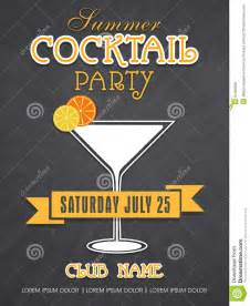 invitation card design for summer cocktail party stock