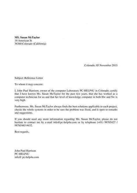 carta formal laboral la carta de recomendaci 243 n en ingl 233 s ejemplos de