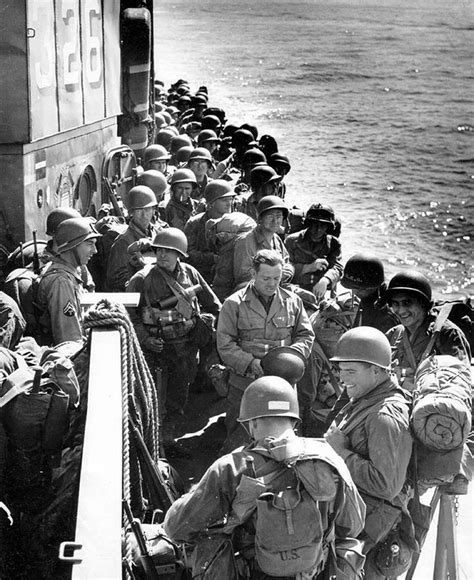 Army Bb Dc Freya 1 of the 90th infantry division waiting to come ashore during the of normandy