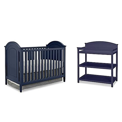 3 In 1 Crib With Changing Table Imagio Baby By Westwood Designs Chatham 3 In 1 Crib And Changing Table Set In Navy Www